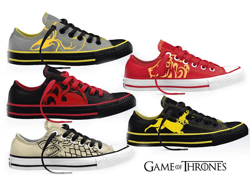 Doctor Who Game of Thrones: Chaussures style Converse en