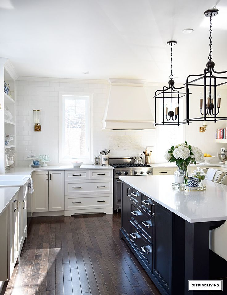 lantern style pendant lighting. Bright And Airy Kitchen With Lantern Style Pendant Lighting Over The Island. I