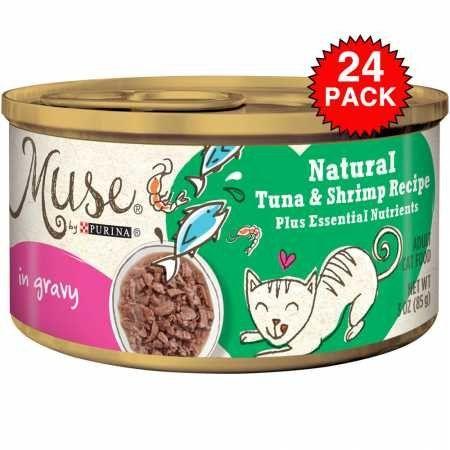 Muse Natural Tuna Shrimp Cat Food in Gravy (24x3oz