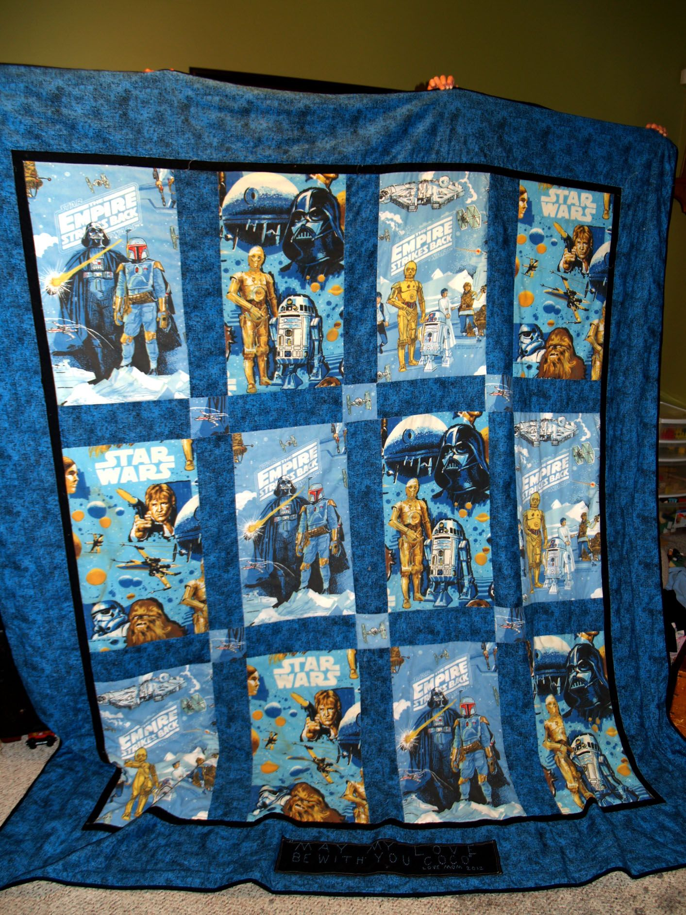 Star Wars Quilt made out of sheets. @michelle Millum how ...
