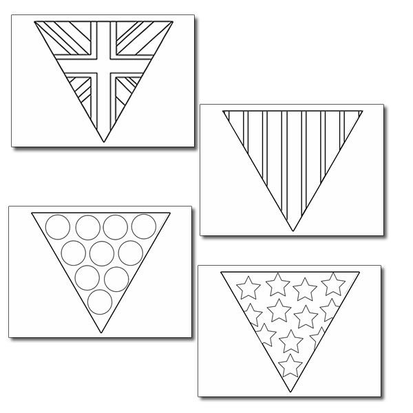 3 bunting colouring sheets, great to help celebrate any British ...