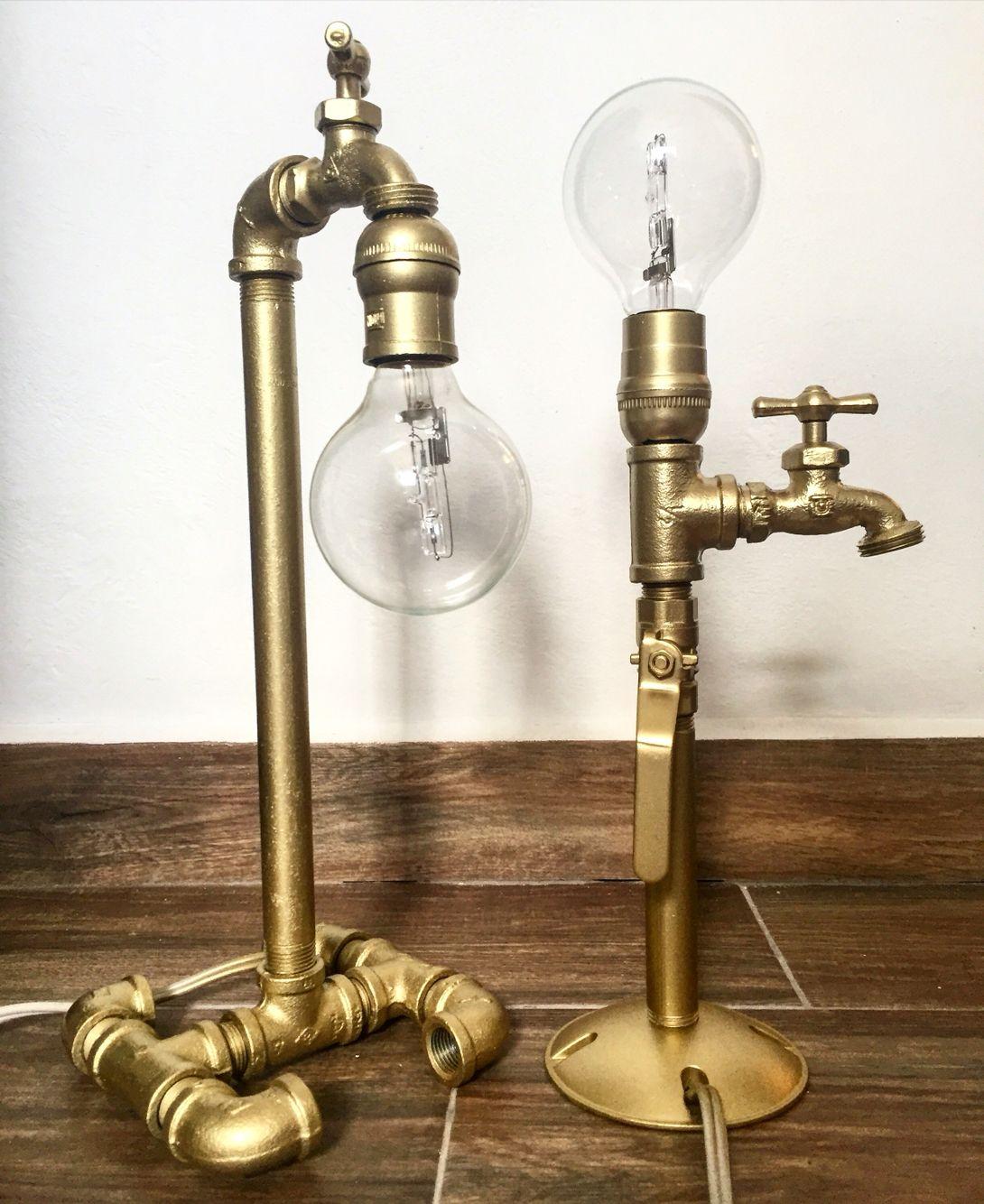 Lámparas de escritorio recicladas | arte deco