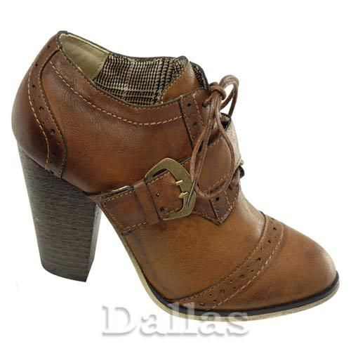 Ladies Chelsea Boots Womens Ankle High Heels Smart Brogue Office Formal Shoes