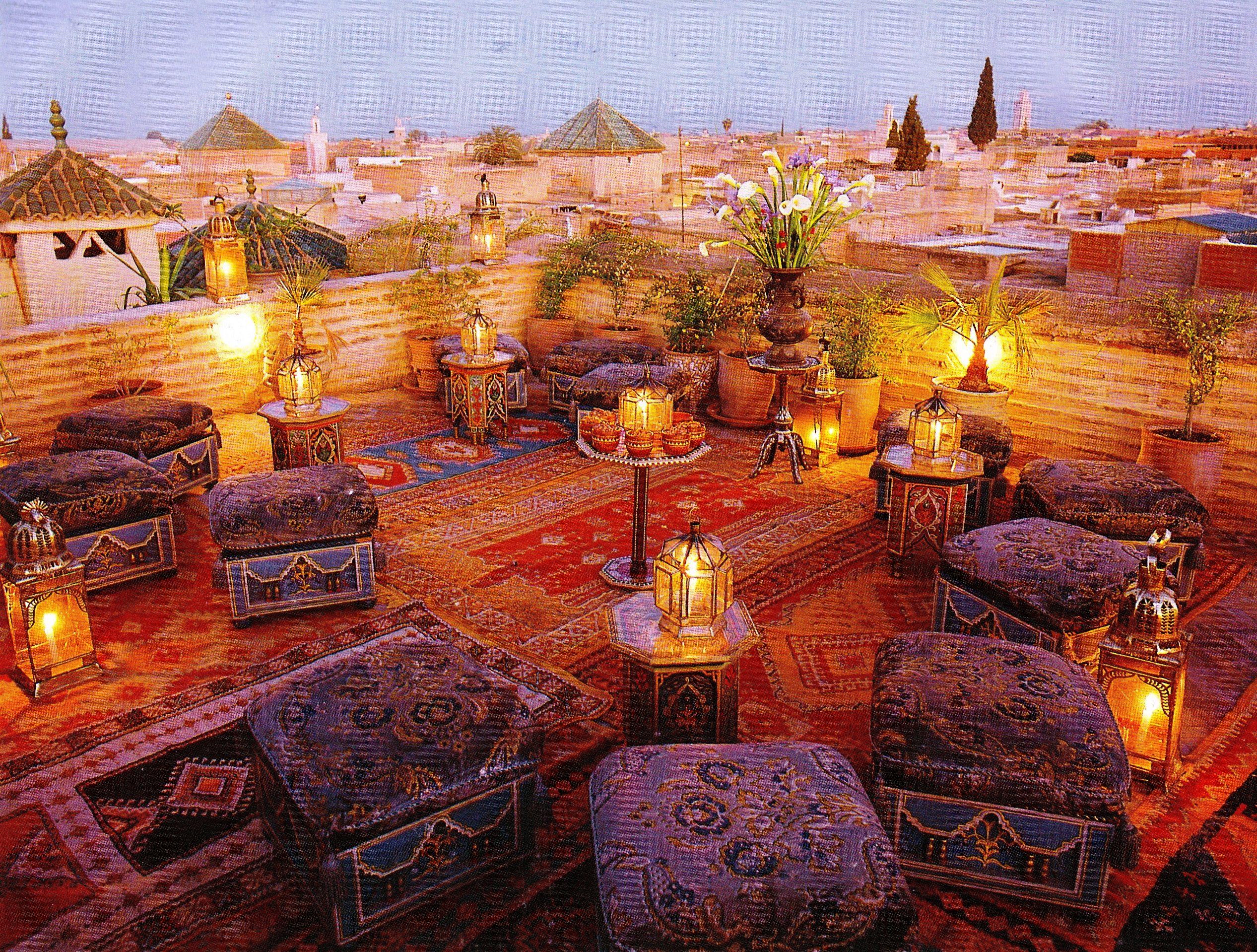 Romantisch dakterras marrakesh interieur pinterest marrakesch