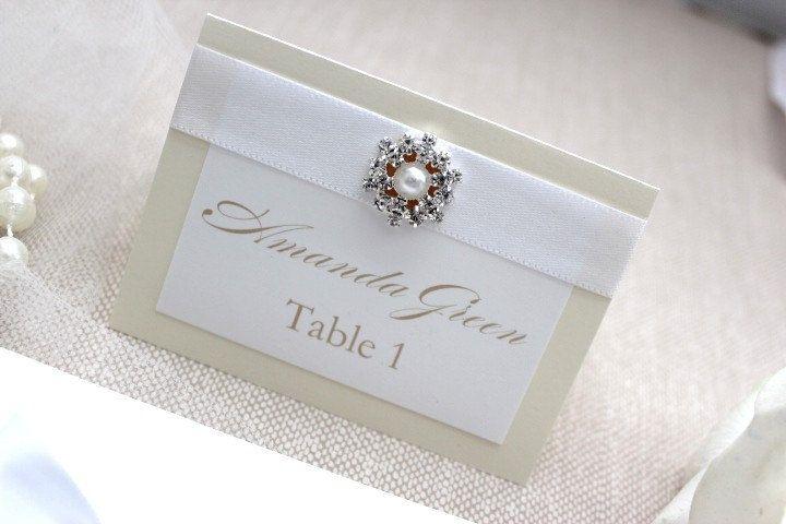 Ivory Wedding Invitation Kits: Wedding Invitation- Luxurious Lace Ivory And White With