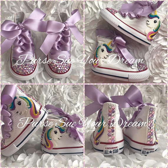 cb2ec06c537 Unicorn Birthday Rhinestone Shoes - Unicorn Birthday Party - Swarovski  Crystal Converse - Rainbow Un