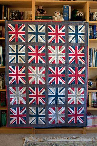 Union Jack Quilt   union jack quilted   Pinterest   Patchwork ... : union jack quilt - Adamdwight.com