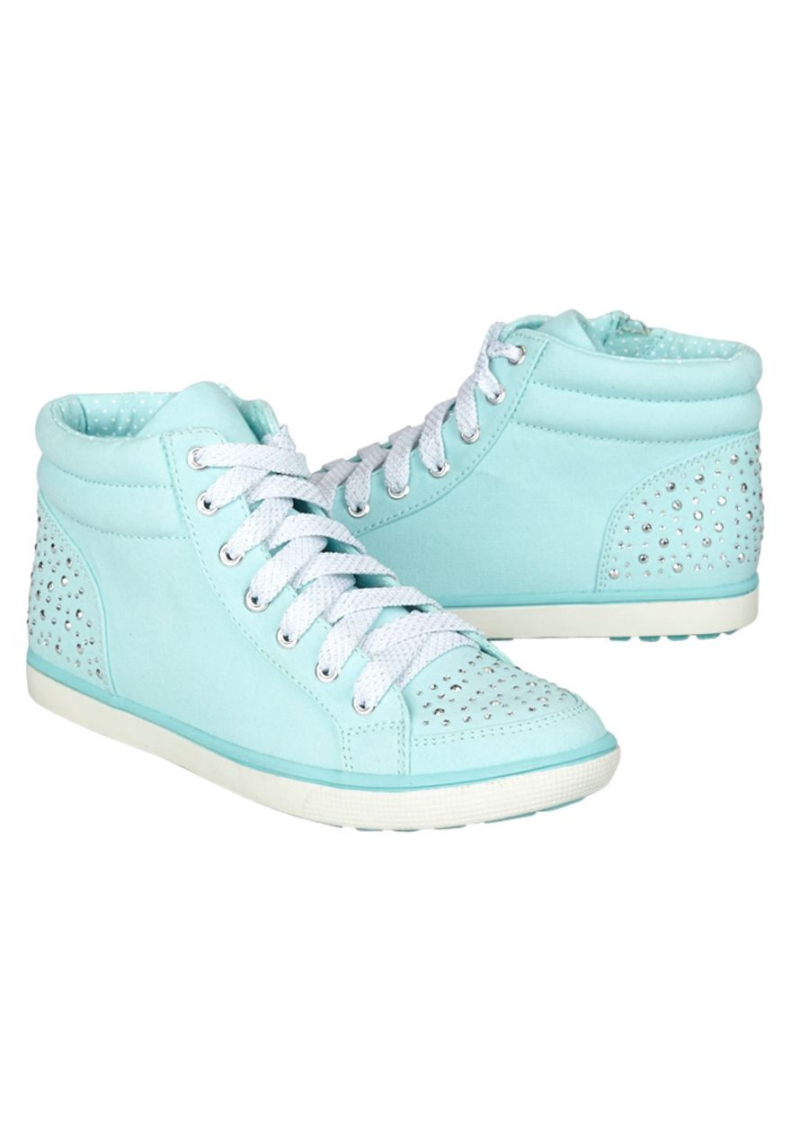 High Top Embellished Canvas Sneakers Original Price 39 90 Available At Justice Justice Shoes Cute Girl Shoes Girls Shoes Teenage