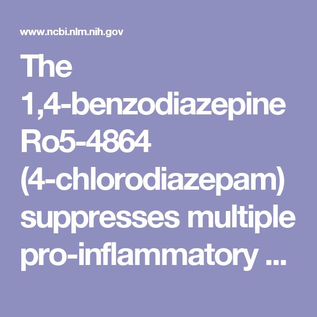 The 1,4-benzodiazepine Ro5-4864 (4-chlorodiazepam