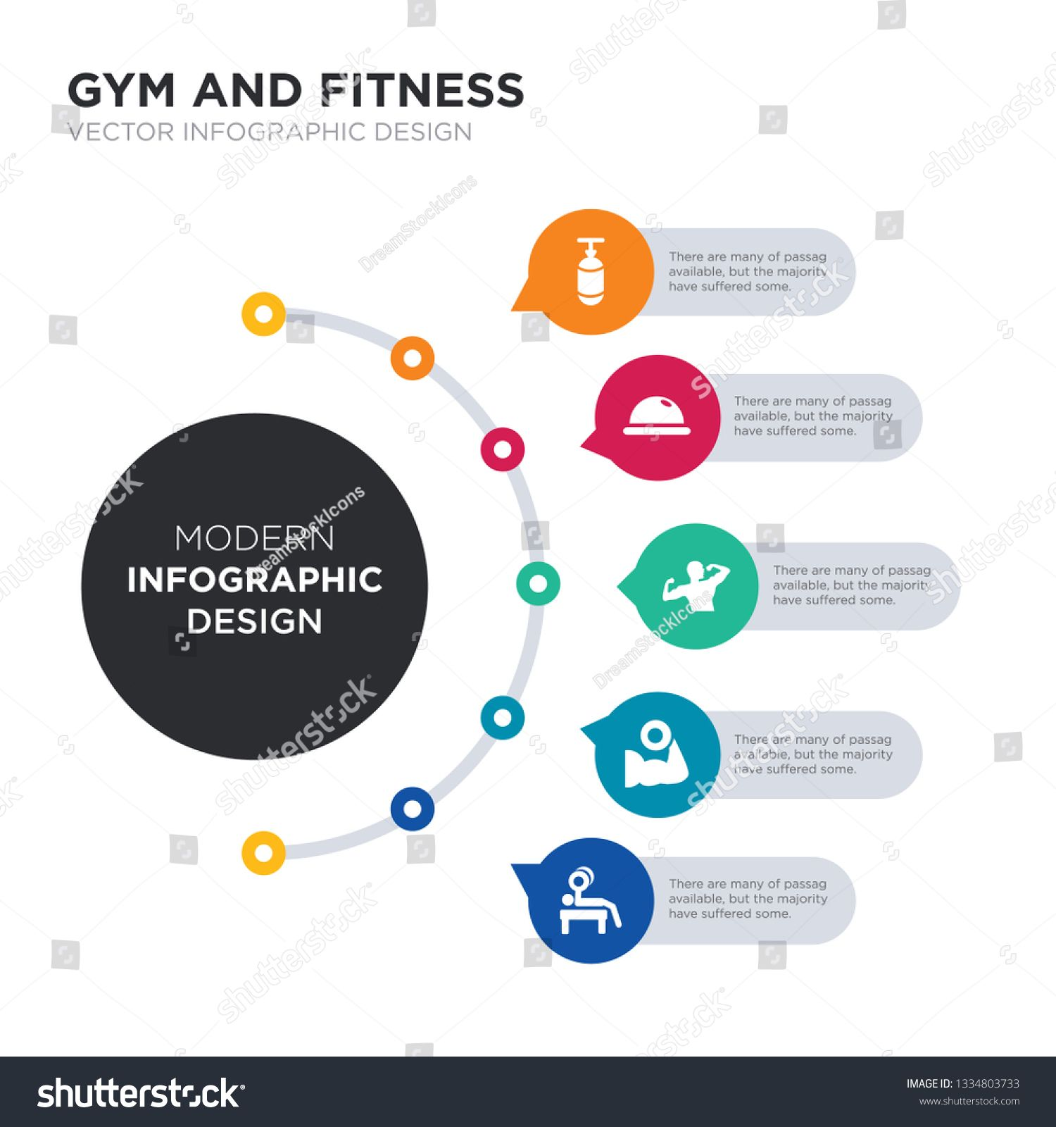 modern business infographic illustration design contains