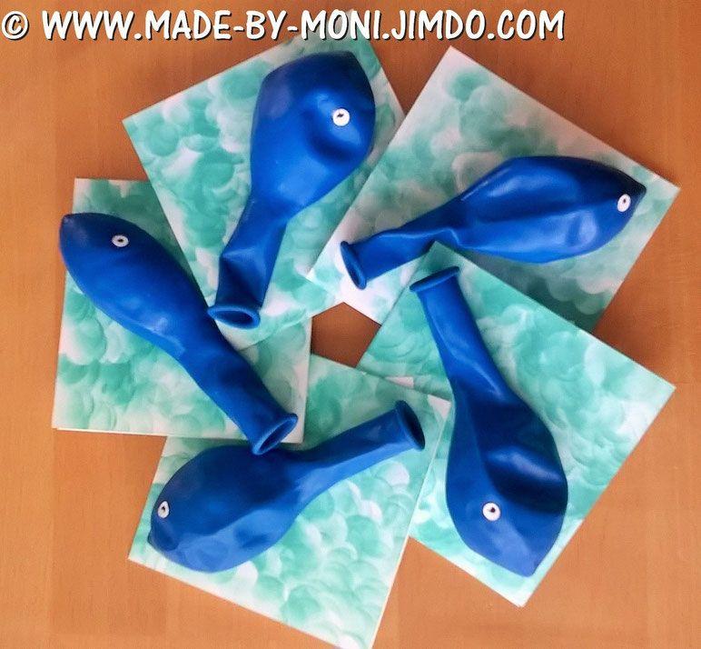 Fesselnd Kinderparty, Einladung, Fisch Im Wasser, Www.made By Moni.