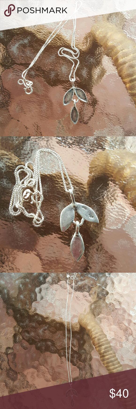 """Silpada Silver Leaf Petal Necklace Silpada Sterling Silver leaf chain Necklace 17"""". SILPADA  Jewelry Necklaces"""