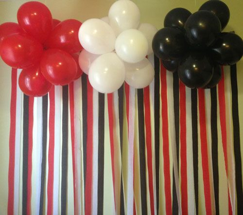 Pirate Balloon Backdrop Add a Happy Birthday banner and it would