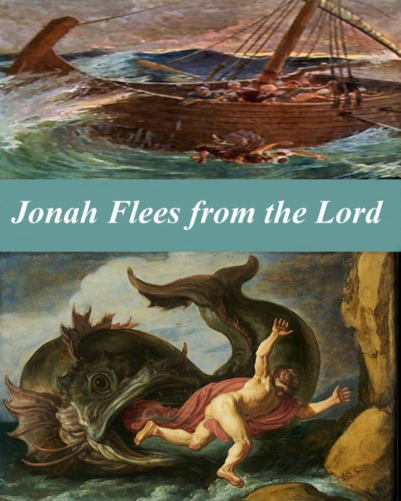 Jonah flees from the Lord 8 x 10 matte print