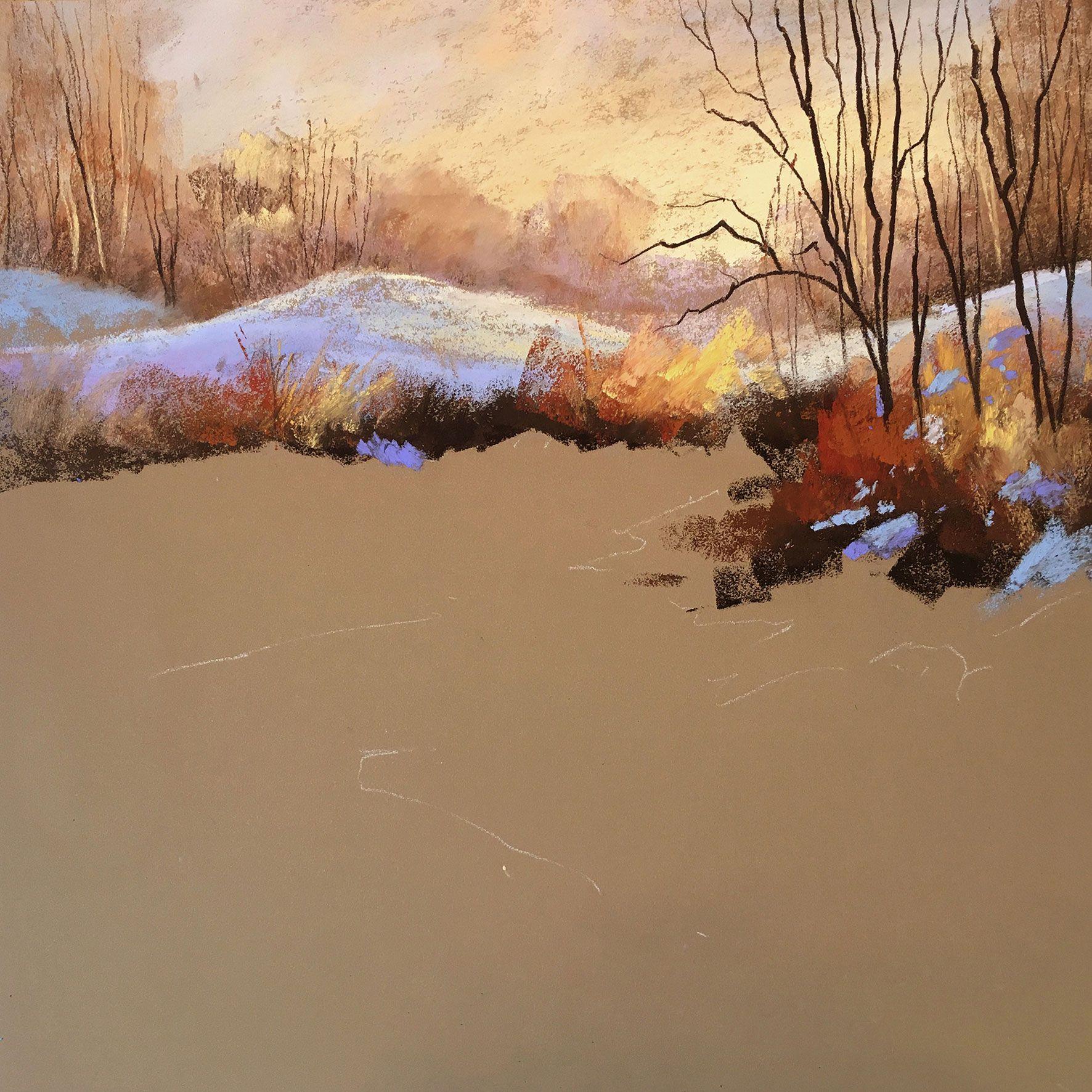 Landscape Painting With Les Darlow And Schmincke Soft Pastels Pastel