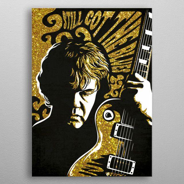 Robert William Gary Moore was a Northern Irish rock guitarist and singer-songwriter. metal poster | Displate thumbnail