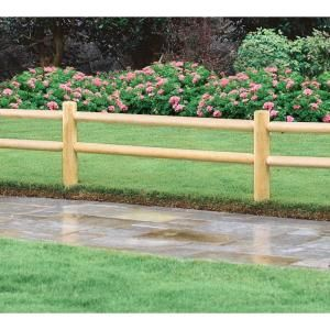 Greenes Fence 18 In. Wood EZ Trim Garden Fence Line Post RC65 At The Home  Depot