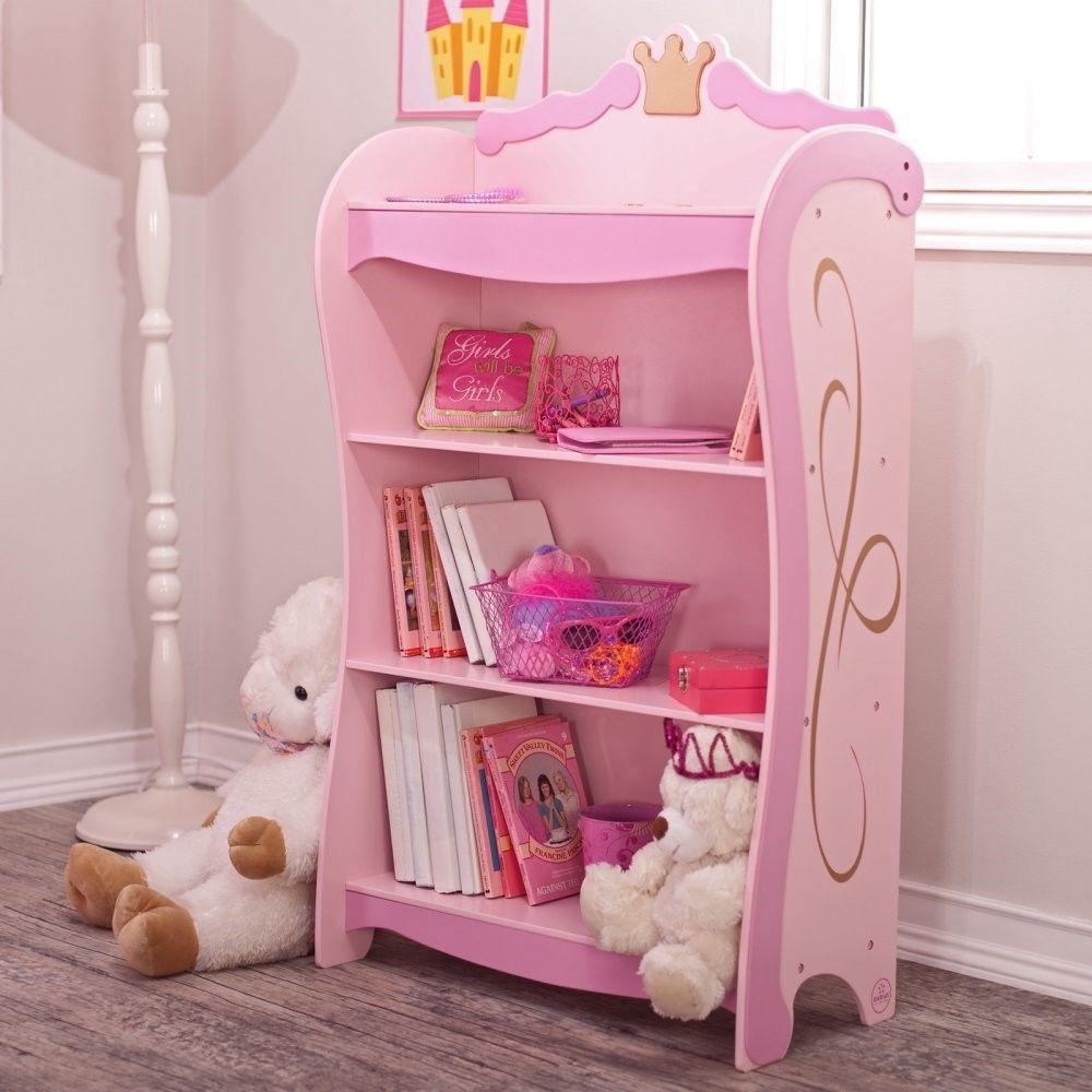 KidKraft 76126 Kids Pink Princess Book Case Shelf Bookcase Girls Furniture NEW