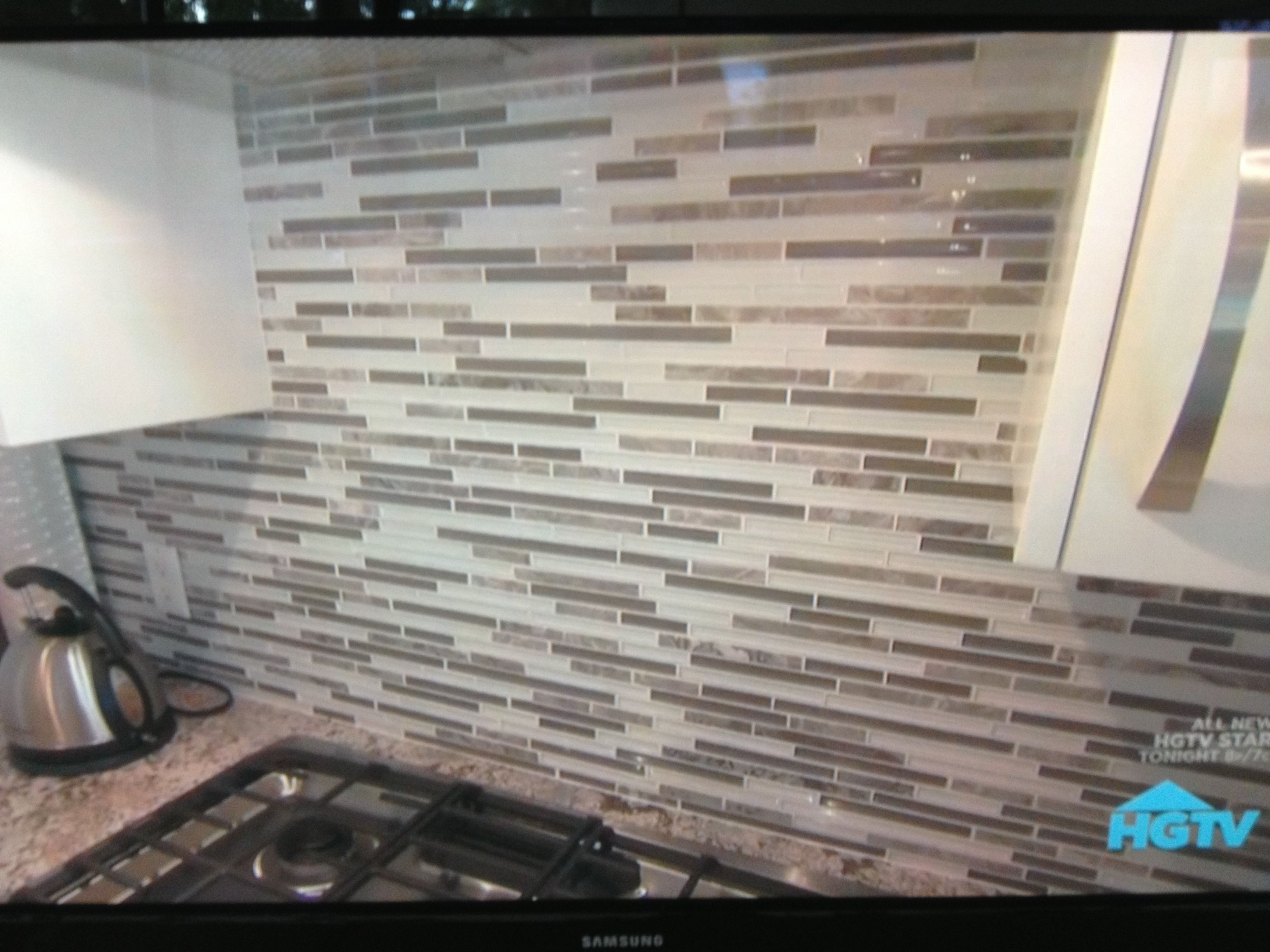 stone/tile/glass backsplash for a neutral gray kitchen | for the
