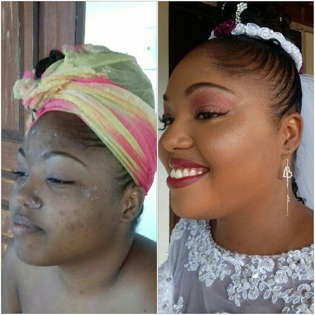 Bridal makeup. Milk of magnesia primer. Revlon two in one