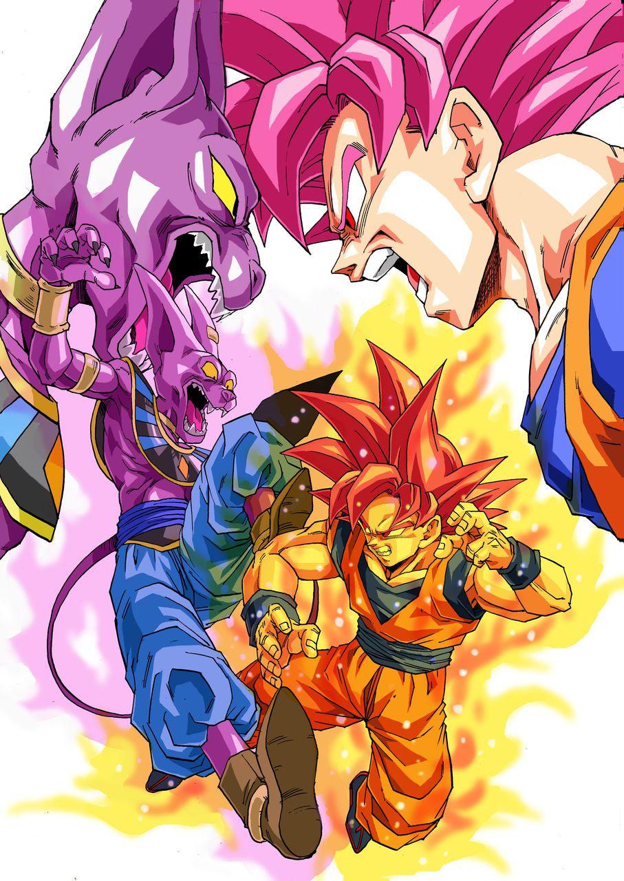 Super Saiyan God Goku Vs Bills Anime Dragon Ball Dragon Ball Dragon Ball Z