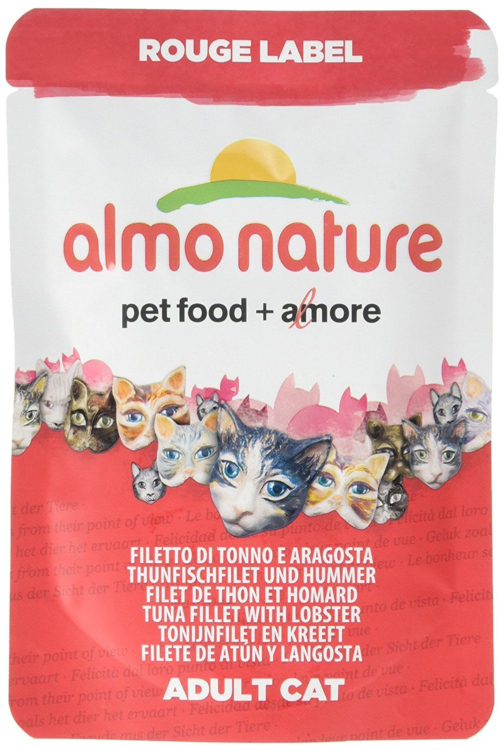 Almo Nature Cat Food Rouge Label Tuna Fillet And Lobster Pack Of 24 X 55g Read More At The Image Link Catfood Kitten Food Cat Food Tuna Fillet