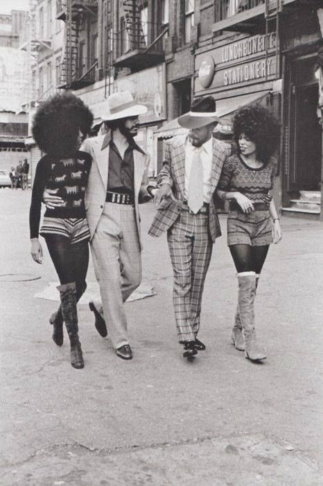 Hot pants, high boots and big 'fros were the fashion of the 70's.