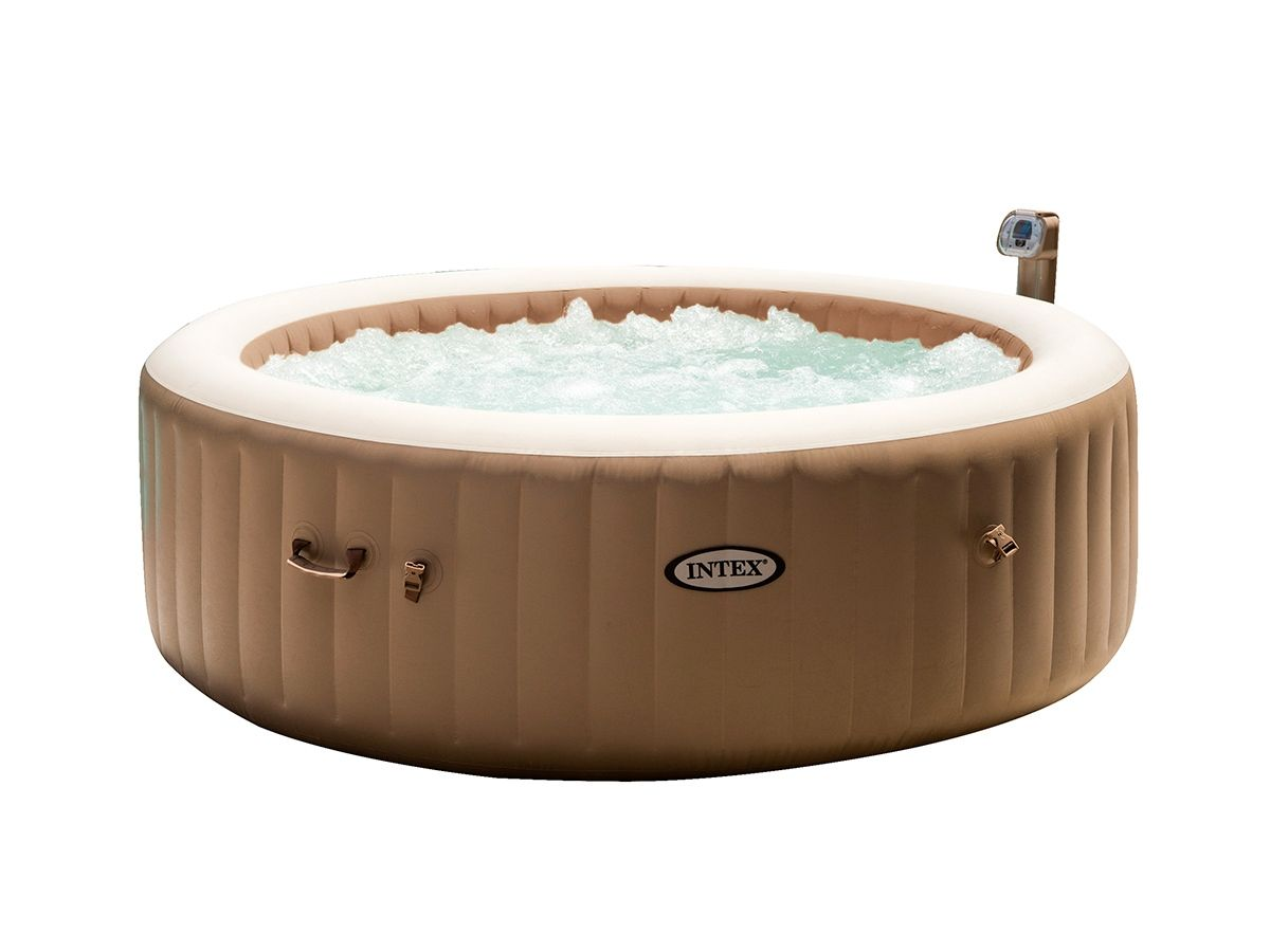 Spa Gonflable Intex Purespa 6 Places Rond Bulles Jardideco In 2020 Met Afbeeldingen Bubbelbad Jacuzzi Spa