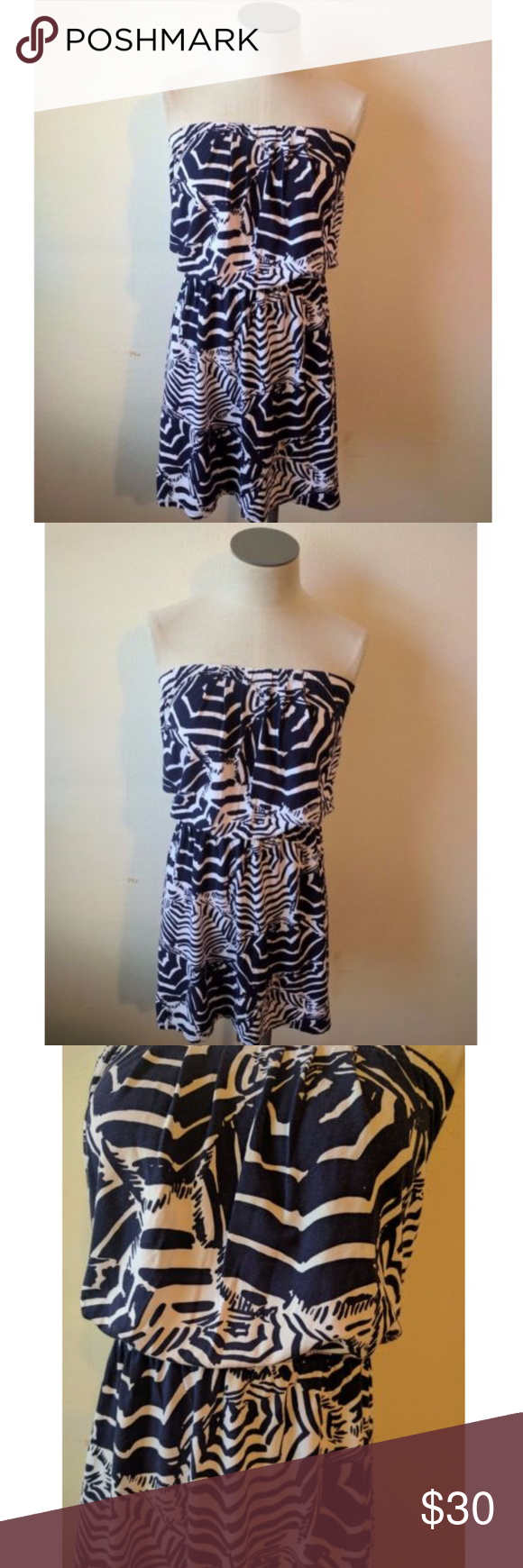 Lilly pulitzer oh cabana boy xs navy blue dress navy blue dresses