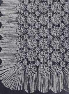 Vintage Crochet PATTERN to make Pineapple Pinwheel Star Design Motif Bedspread