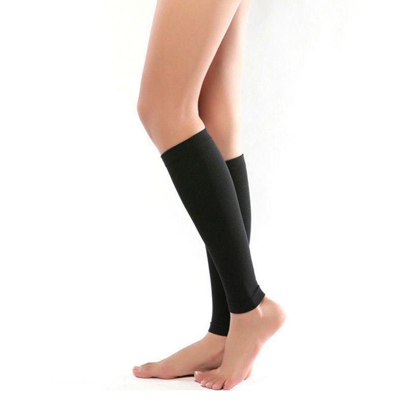 4b8a408a0c 1 Pair Medical Support Leg Shin Socks Varicose Veins Calf Sleeve Compression  Brace Wrap Hot