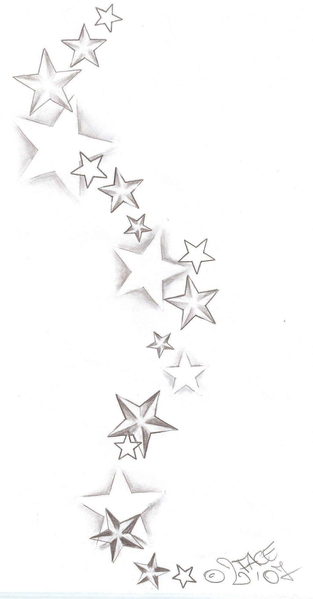 Verzauberkunst Tattoo Mit Sternen Ideen Von Tattooflash Stars Shadings By 2face-tattoo.deviantartreview On @deviantart