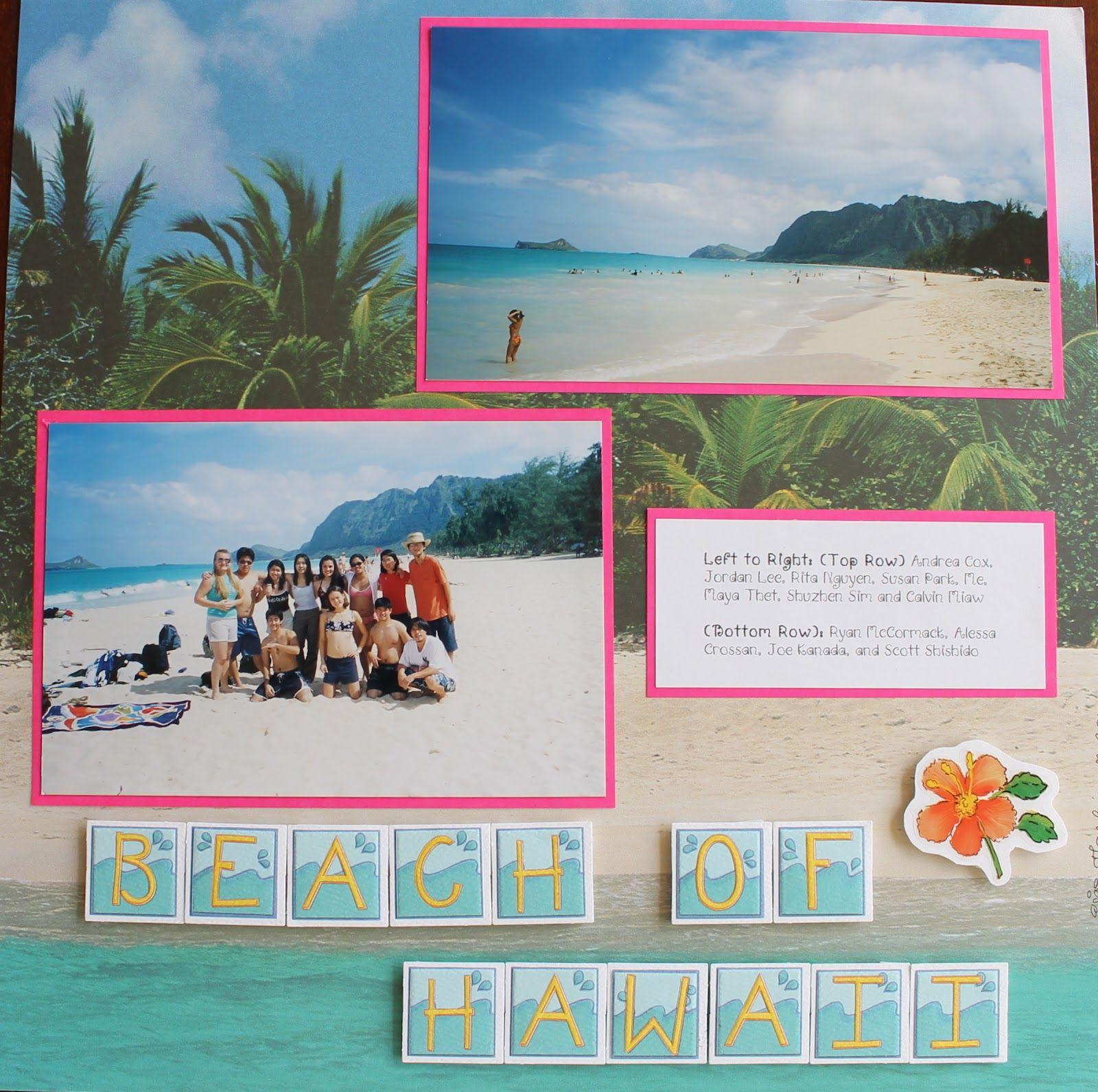 Scrapbook ideas hawaii - Hawaii Scrapbook Page Layouts Hawaii Scrapbook Layouts Keep Coming