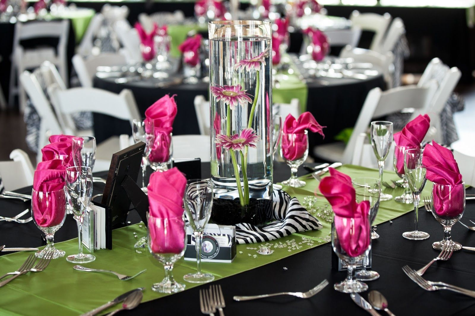 Zebra print wedding decorations decorated with black linens zebra print wedding decorations decorated with black linens with zebra print junglespirit Images