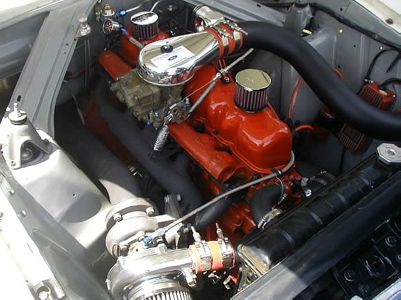 Boosted-Injected Ford 200 ci I-6   Motor   57 chevy trucks