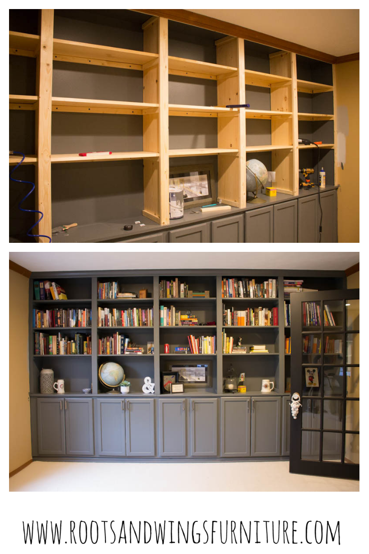 How To Build Built In Shelves The Reveal Home Library Diy Diy