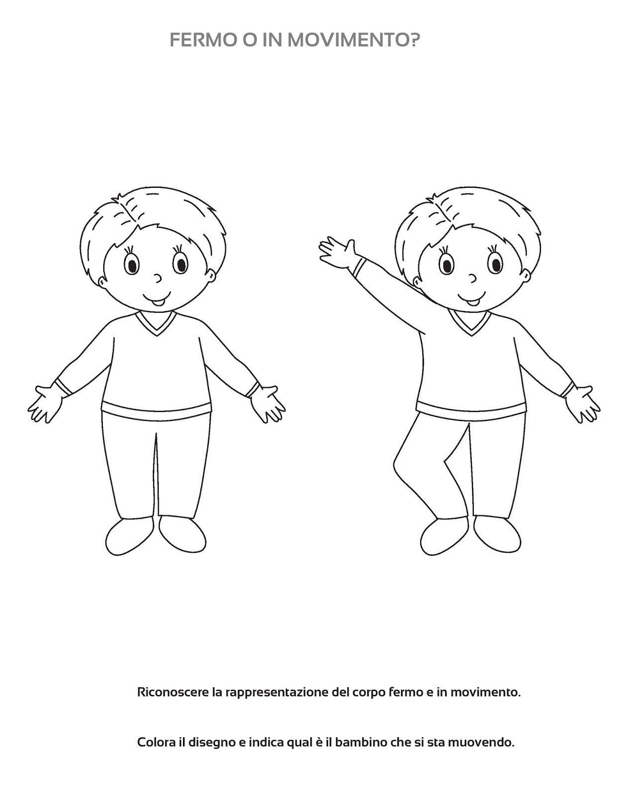 Disegni Da Colorare Corpo Umano Scuola Infanzia