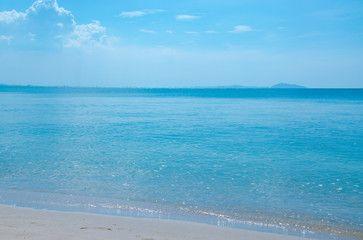 Landsacape of the beach with blue sky