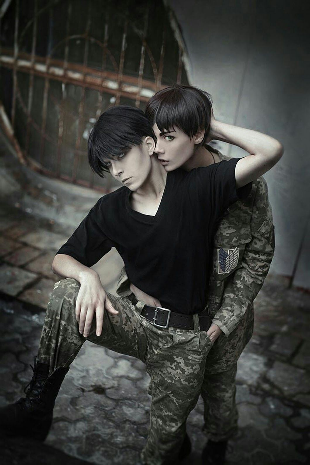 Eren and levi cosplay