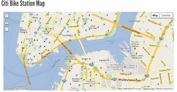 citi bike nyc | station map, bike path, map