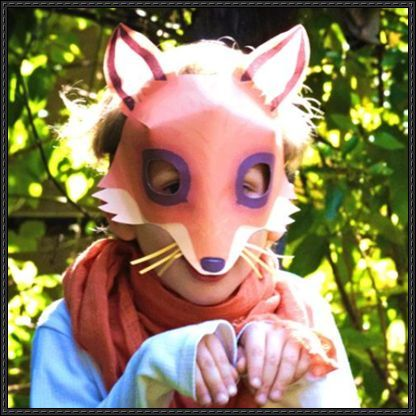 Fox Mask Free Papercraft Template Download - http://www ...