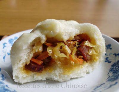 Recettes d'une Chinoise: Baozi aux légumes et saucisse fumée de Sichuan 腊肠包子