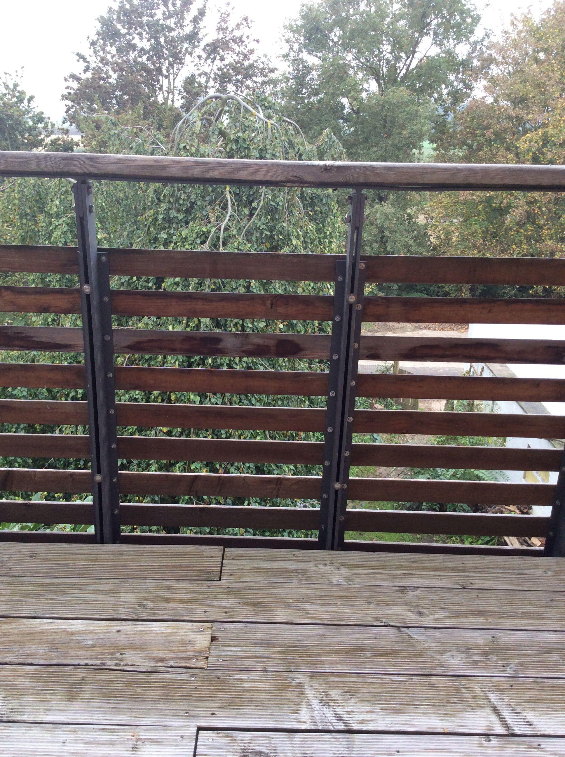 Balkongelander Holz Metall Gelander Balkon Balkon Gelander