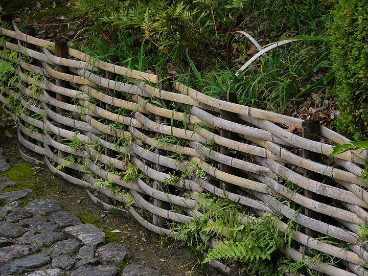 Bamboo Wattle Fence In Shirotori Garden, Nagoya