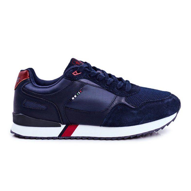 Eve Sportowe Meskie Buty Skora Zamsz Granatowe Fonsi Shoes Leather Suede Leather