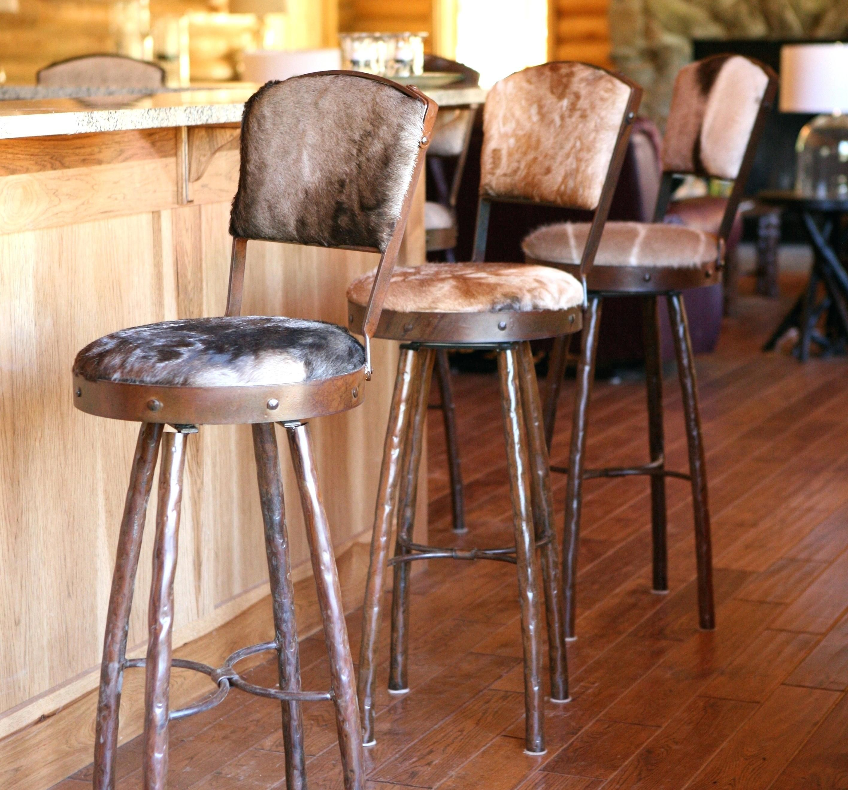 Round Metal Bar Stools Cowhide Bar Stools Kitchen Stools With Back Iron Bar Stools