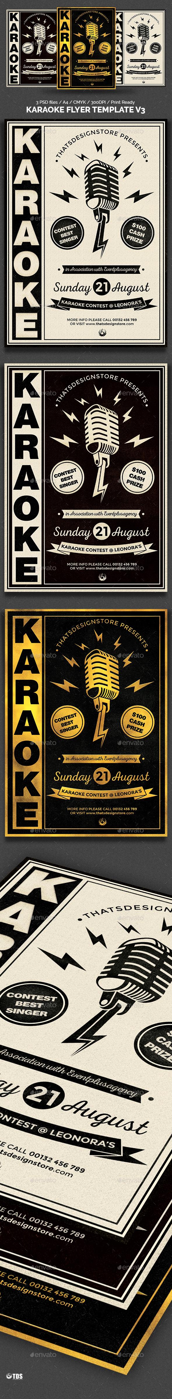 Karaoke Flyer Template V3 Flyer Template Karaoke And Template