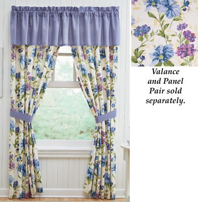 Floral Mayfield Drapery Curtain Collection