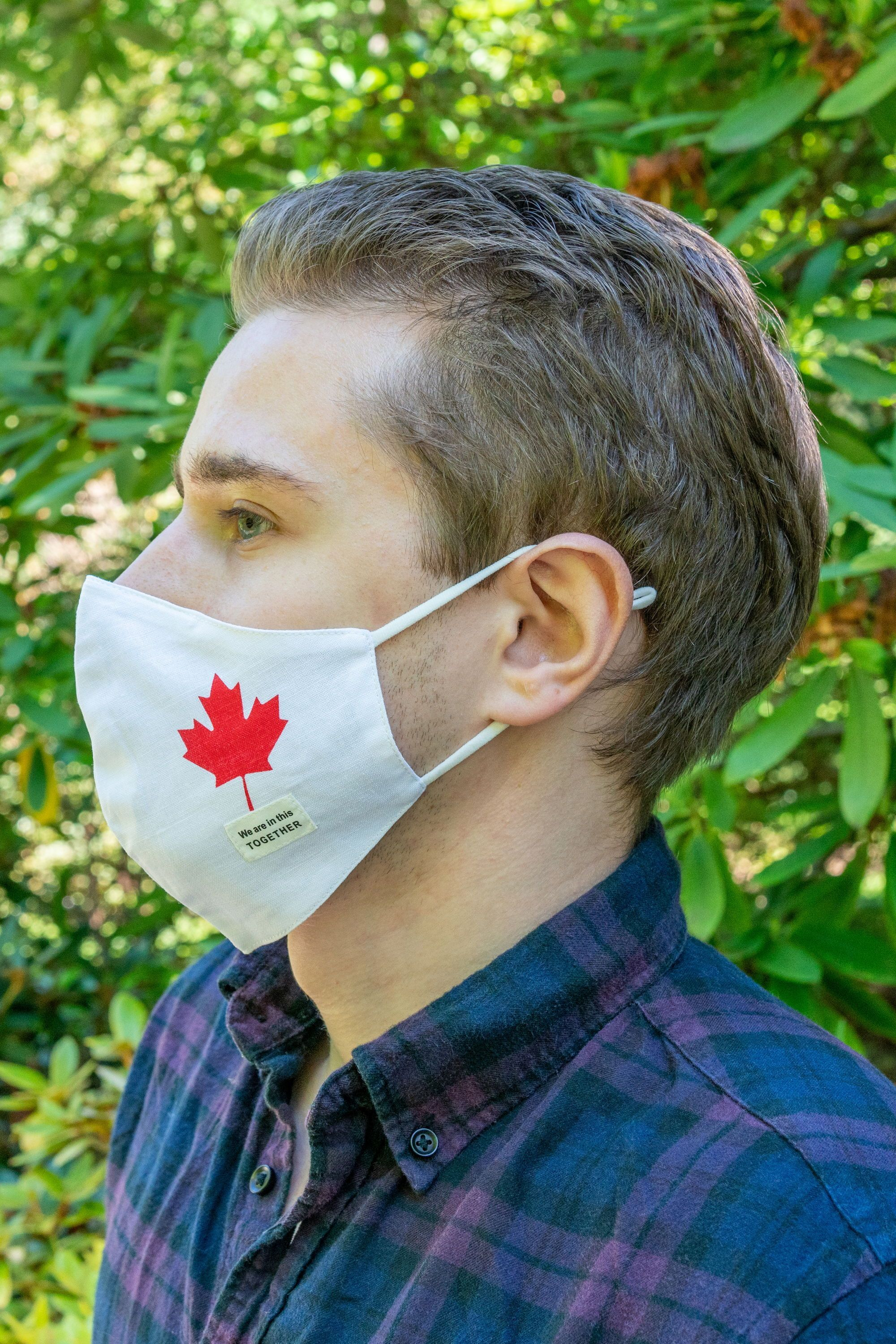 Lightweight Reusable Face Mask Canada Maple Leaf We Are In