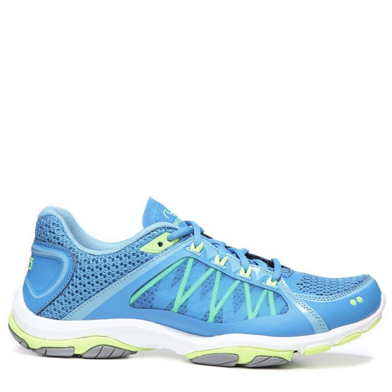 Ryka Women's Influence 2.5 Medium/Wide Training Shoes (Blue/Lime/Frost Grey